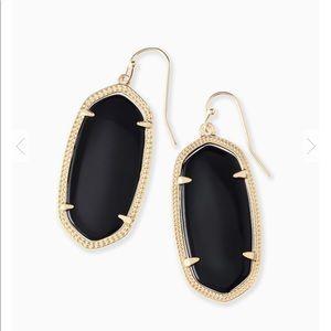 Kendra Scott Elle Earrings In Black Opaque Glass